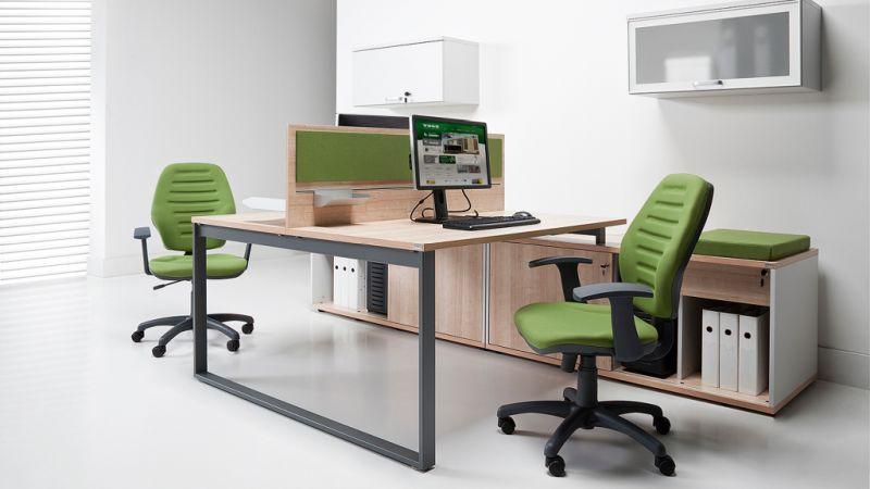 NOTER biurko 2 osobowe na płozie