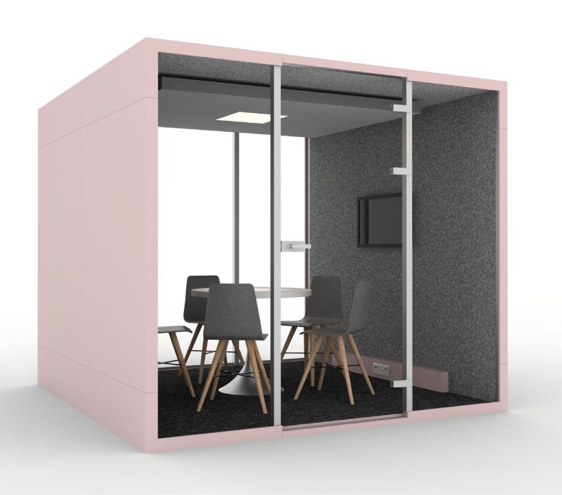 budka telefoniczna do biura strefa chillout mała sala konferencyjna na 6 osób
