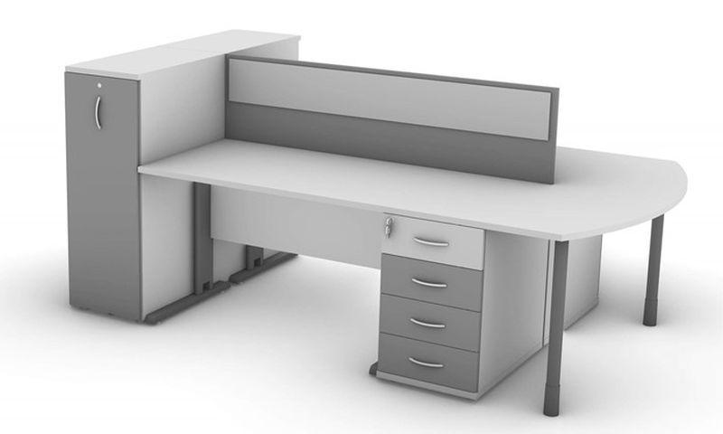 biurka proste z przegrodą i przystawką kontener podbiurkowe szafki cargo