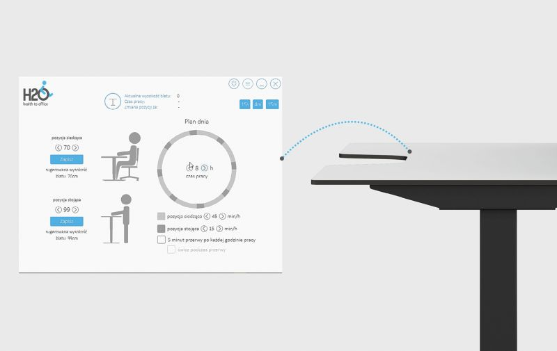 biurka z regulacją wysokości elektryczne ergonomiczne