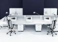 hebe biurka typu bench wieloosobowe nowoczesne minimalizm