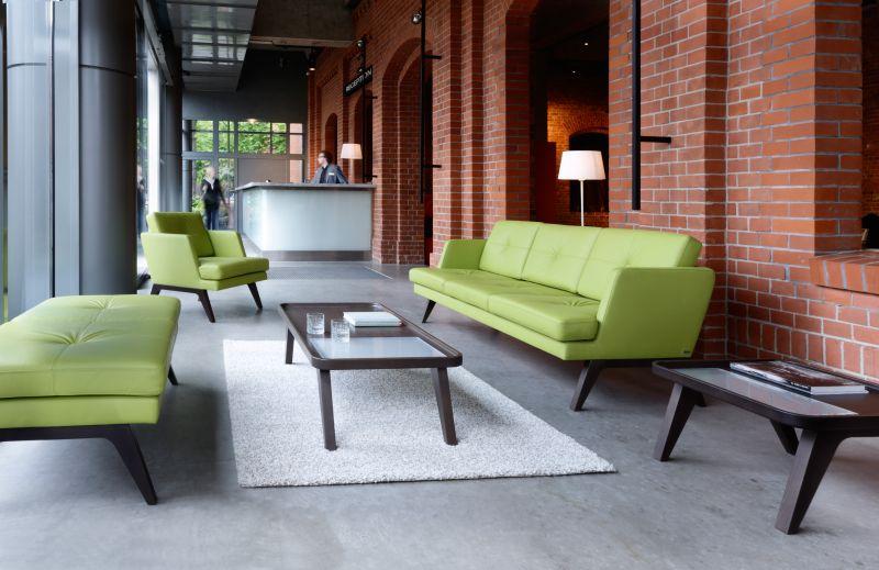 sofy kanapy biurowe october zielone