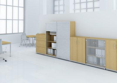 aranżacja biura warszawa wizualizacje szafy biurowe
