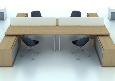 aranżacja biura warszawa wizualizacje meble pracownicze