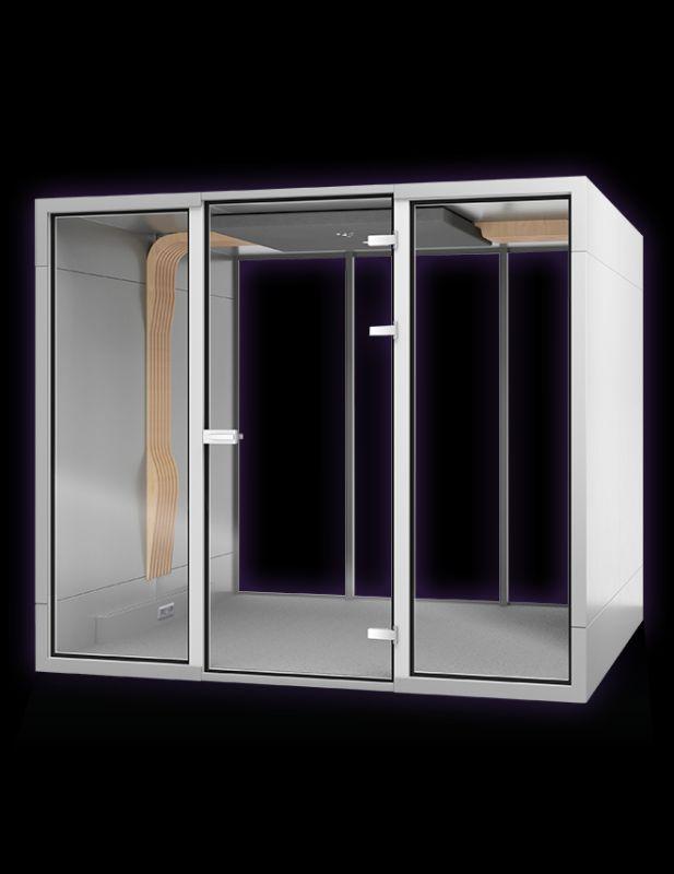 budki telefoniczne do biura duża budka do samodzielnego wyposażenia w meble biurowe lub pufy