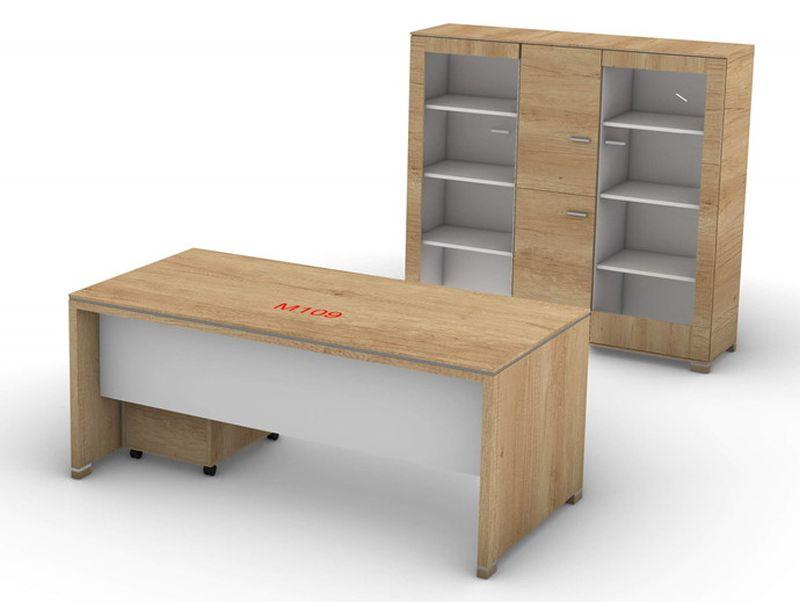biurko do domowego gabinetu szafy elegancki zestaw