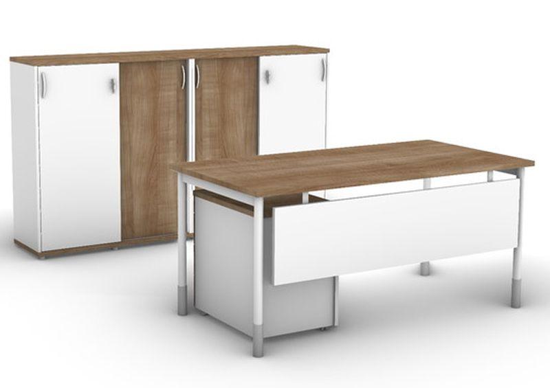 biurko do biura w domu szafy niskie 3OH nowoczesne