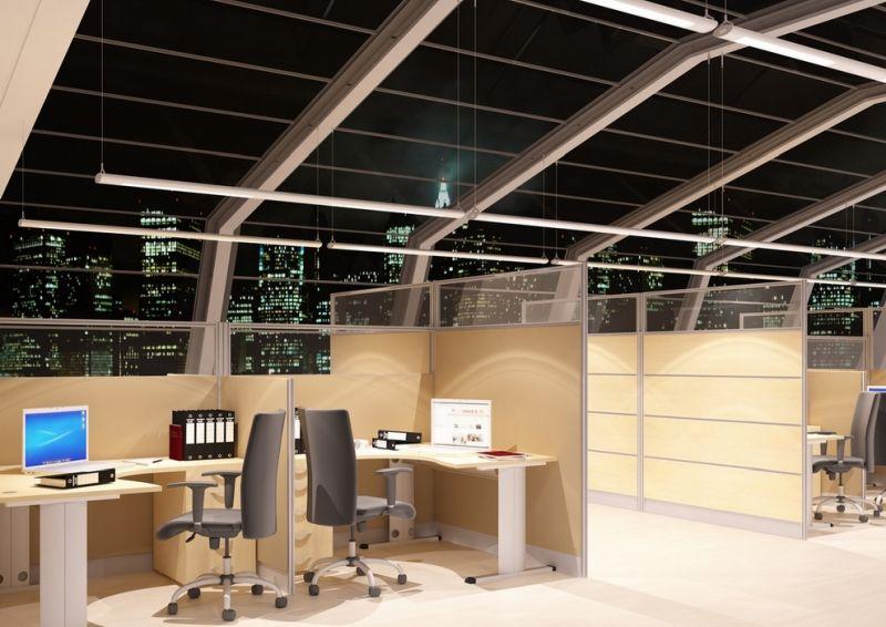 ścianka biurowa aranżacja openspace ścianki wysokie