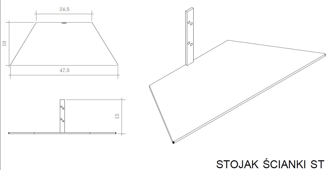 stojak ścianki s32 rysunek techniczny