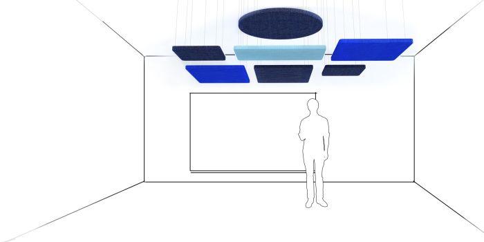 wiszące ekrany akustyczne ekrany sufitowe do biura