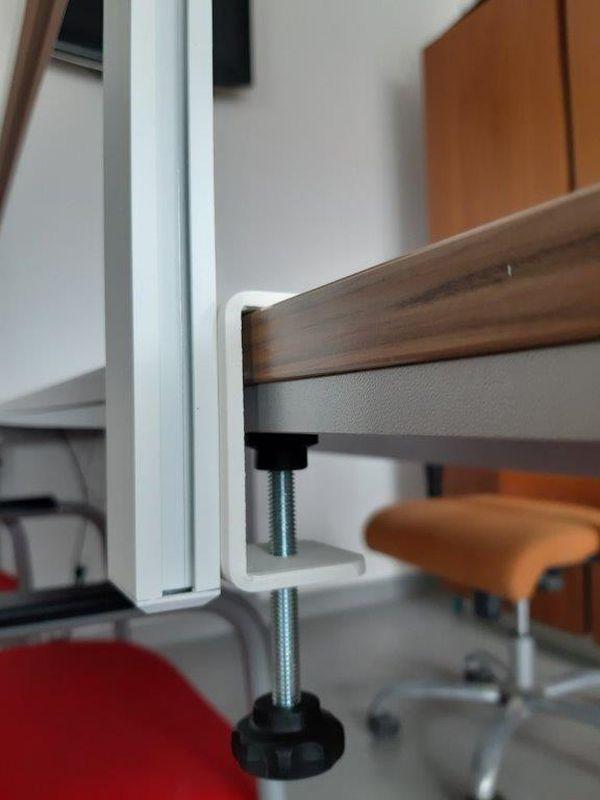 przegroda antywirusowa zaciska do mocowania na biurku