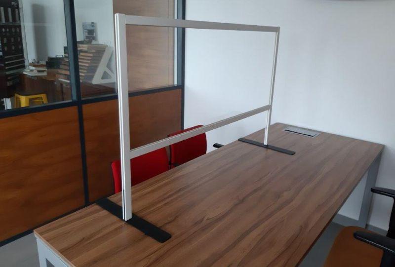 przegroda antywirusowa na biurko stopa 2 stronna