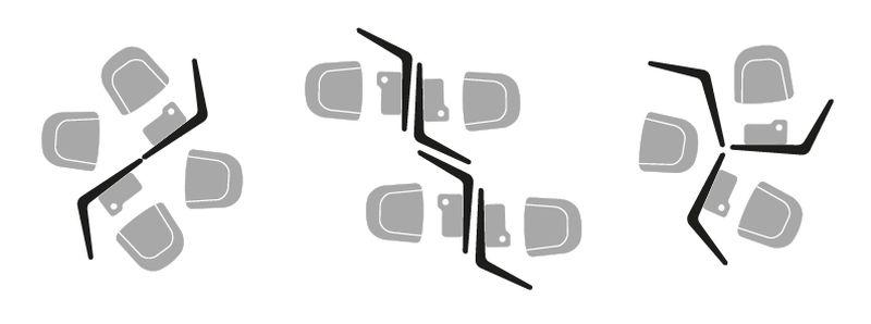 układy ścianek mobilnych rollwall