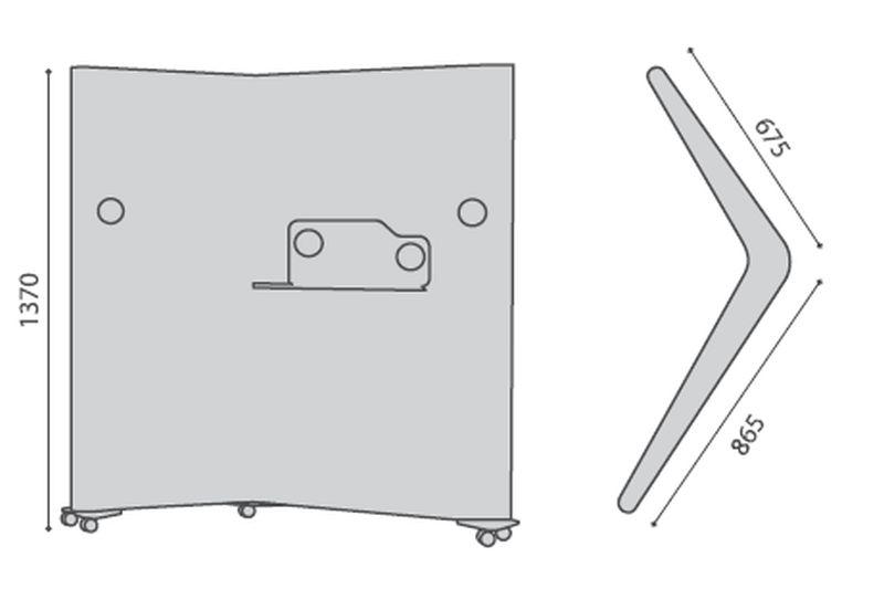 ekrany na kółkach do biura wymiary rollwall